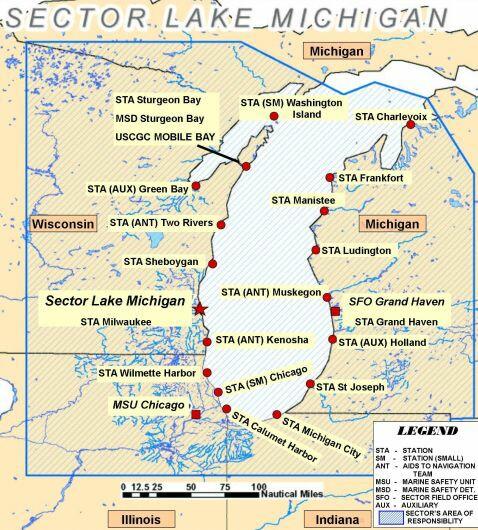 Michigan West Coast Map Bnhspinecom - Michigan coastline map